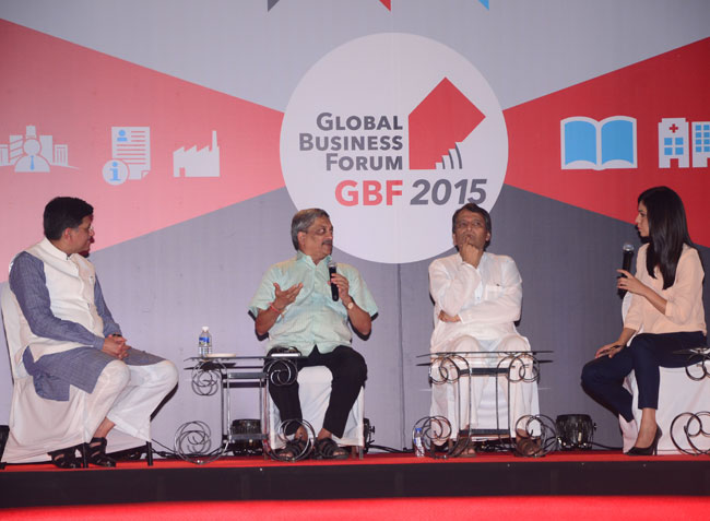 Manohar Parrikar Speaking at Global Business Forum organised by IITBAA