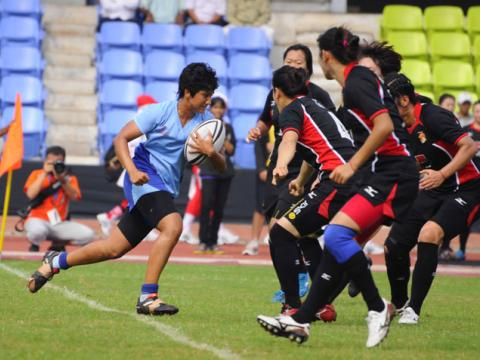 Indian skipper Surbhi Date in action during India vs China